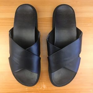 Urban Outfitters vegan leather slides